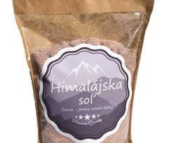Kala Namak Čierna himalájska soľ jemne mletá 500g