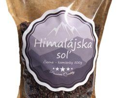 Kala Namak Čierna himalájska soľ kamienky 500g