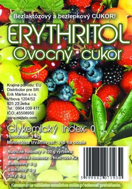 Ovocny cukor ERYTHRITOL 1kg