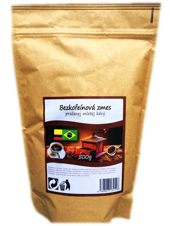 BEZKOFEÍNOVÁ mletá káva 500g pražená (SVK)