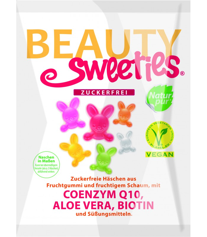 Beauty Sweeties- Vegan Zajkovia 125g bez cukru
